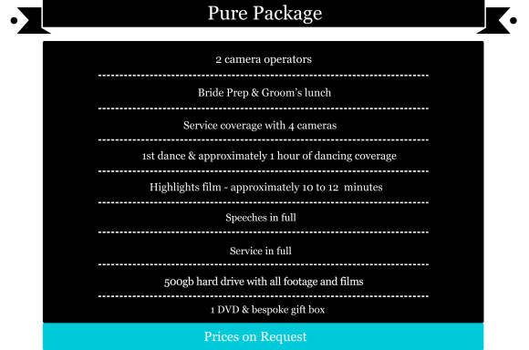 Simple Package pricelist